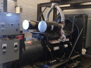 750 KVA Generators 2 Available 600Volt/347 722 Amps Each
